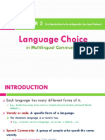 Chapter 2 - Language Choice in Multilingual Communities
