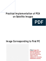 Practical Implementation of PCA on Satellite Images