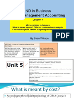 Lesson 4 HND in Business Unit 5 Management Accounting