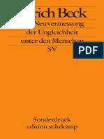 Ulrich Beck-Die Neuvermessung Der Ungleichheit Unter Den Menschen-Suhrkamp Verlag (2008)