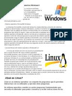 Definición de Sistema Operativo Windows