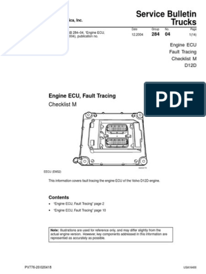 Volvo Ecu d12d | Fuel Injection | Technology & Engineering | Volvo D12 Wiring Diagram |  | Scribd