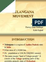 Telangana Movement Presentation