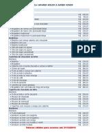 Tabela de Doces Agosto-2016