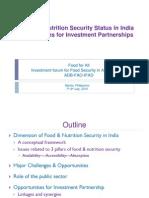India - Towards Food Security Partnership