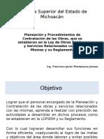 Planeación y Procedimientos de Contratación de Las Obras Lopsrm