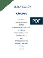 Los Componentes de La Didáctica (1)