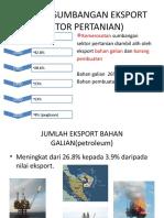Peratus Sumbangan Eksport (Sektor an