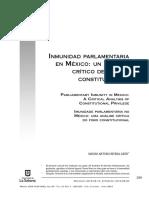 Inmunidad parlamentaria en México