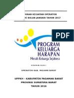 Laporan Kegiatan Operator Januari 2017