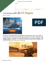 ¿Qué Es Ut Supra_ - Su Definición, Concepto y Significado