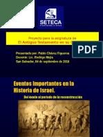 Eventos Historia Israel. Pablo Chávez