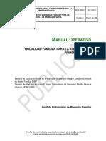 MO2 MPM1 Manual Operativo DIMF Y FAMI Cuidado y Nutrición en El Marco de La Atención Integral Para La Primera Infancia MF V4