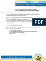 Evidencia 4 Informe de Analisis de Los Indicadores y Estandares Proyectados y Pertinencia Enviar
