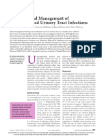 management urinary infection