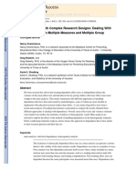 Meta-Analysis With Complex Research Designs Dealing With Dependence From Multiple Measures and Multiple Group Comparisons