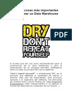 Las 10 cosas más importantes para crear un Data Warehouse