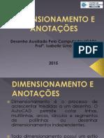Dimensionamento e Anotações