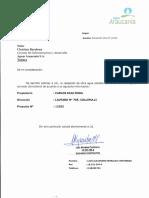 Carta Solicitud de Certificado de Instalaciones