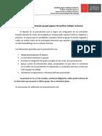 Pauta de Presentación Grupal Papers de Análisis Trabajo Inclusivo Trabajo 4