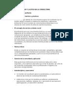 El Profesionalismo y La Etica en La Consultoria (Resumen)