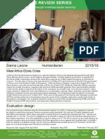 Humanitarian Quality Assurance – Sierra Leone