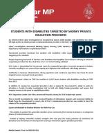 Prue Car MP Media Release