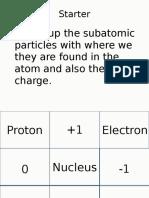 AQA C1.1.3 the Arrangement of Electrons in Atoms