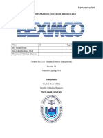 Compensation system of BEXIMCO ltd.