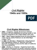 civil rights 1940s 1950s