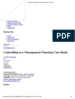 Controlling as a Management Function Case Study _ Advertising