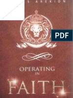 Operating in Faith - James Arekion