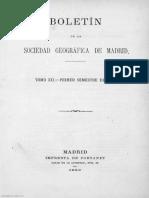 Boletín de la Sociedad Geográfica de Madrid Tomo XII Año VII Número 1 - 1882 Enero - 1000014434.pdf