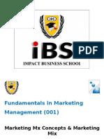 DBM Marketing 1 (Marketing Mix)
