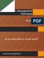 Impression Management Technique ppt.