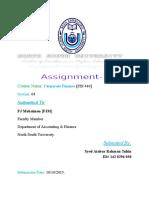 Fin440.4 [Assignment-1]