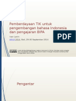 Lanin-2014-Pemberdayaan-Teknologi-untuk-Pengembangan-Bahasa-Indonesia-dan-Pengajaran-BIPA-ASILE-2014.pptx