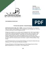 daniel rodriguez press release