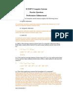 ECE3073 P6 Performance Enhancement Answers