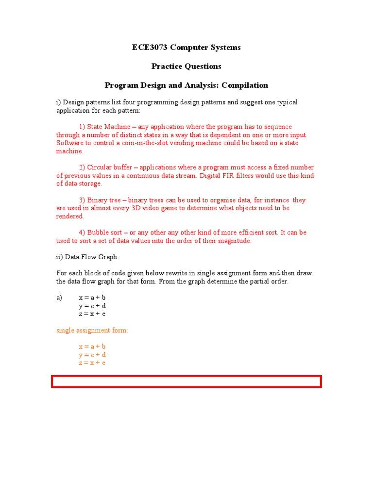 ECE3073 P8 Compilation answers pdf | Subroutine (21 views)