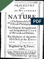 Paracelsus of the Supreme Mysteries-paracelsus