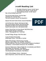 Warcraft Reading List