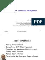- Sistem Informasi Manajemen