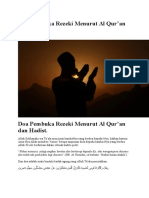 Doa Pembuka Rezeki Menurut Al Quran