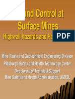 Ground Control at Surface Mines - Highwall Hazard and Remediation