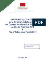 SEGMA-DFCAT Rapport d'Activités 2010-Plan d'Action 2011