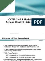 CCNA2 3.1-11 Access Control Lists (ACL)