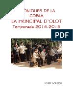Cròniques de La Principal d'Olot (2014-2015) Portada i Text