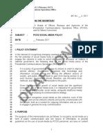 Draft PCOO Memo on Social Media Policy