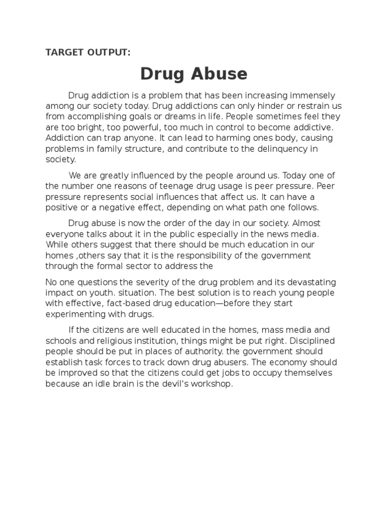 discussing teens drug abuse problems social work essay The most common problems teenagers face today social and parental forces, work and school in the usa, drug abuse is a major problem affecting millions of.